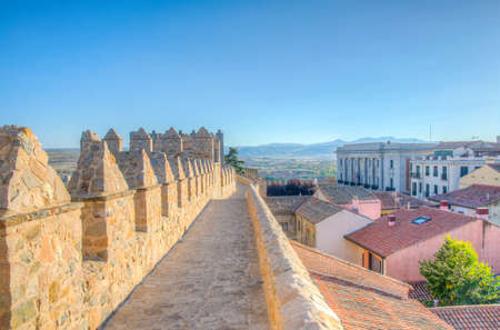 Fortification of spanish town Avila Stock Photo