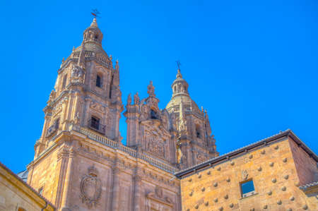 Casa de las conchas and church of holy spirit at Salamanca, Spain