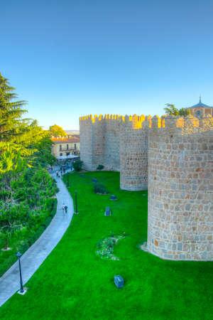 Fortification of spanish town Avila Redakční