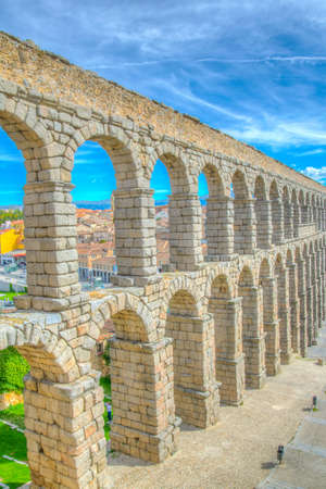 Detail of aqueduct at Segovia, Spain Standard-Bild