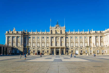 Royal Palace called Palazio Real in Madrid, Spain. Editorial