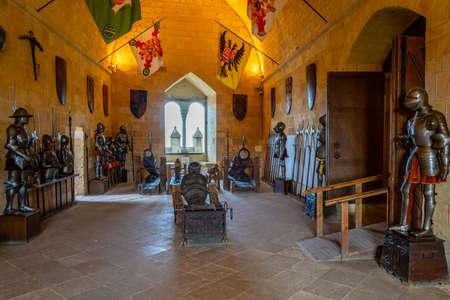 SEGOVIA, SPAIN, OCTOBER 4, 2017: Armory of Alcazar de Segovia, Spain