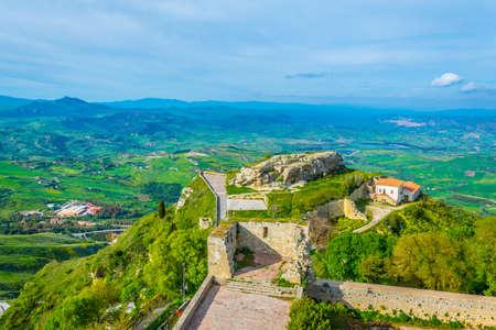 Rocca di Cerere viewpoint in Enna, Sicily, Italy Standard-Bild