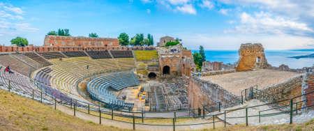 Teatro Antico di Taormina in Sicily, Italy