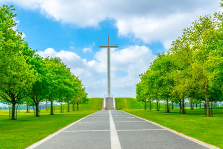 View of the papal cross in the Phoenix park in Dublin, Ireland