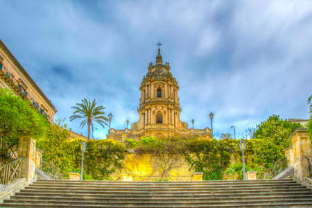 Cathedral of saint george in Modica, Sicily, Italy