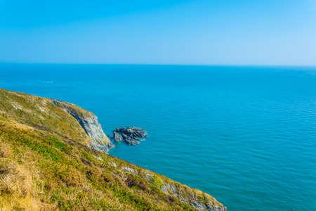 Ragged coastline of Howth peninsula near Dublin, Ireland