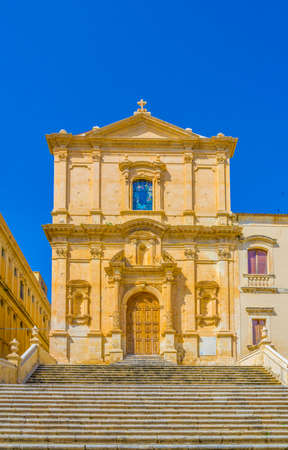 Chiesa di San Francesco d'Assisi all'Immacolata in Noto, Sicily, Italy 免版税图像