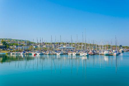 View of Marina in Howth, Ireland