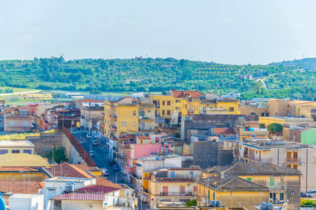 Aerial view of Noto, Sicily, Italy