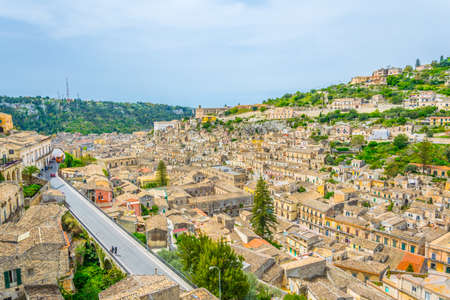 Aerial view of Modica, Sicily, Italy