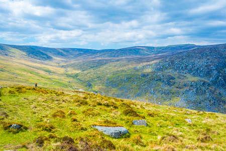 Irish countryside near Glendalough Banco de Imagens