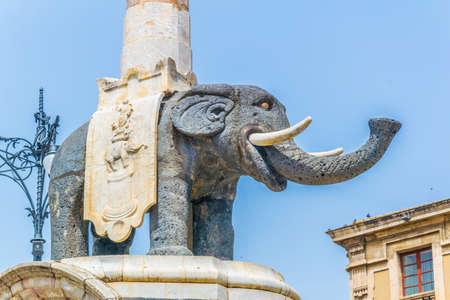 Elephant fountain in Catania, Sicily, Italy