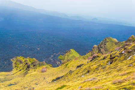 Valle del bove of mount etna in Sicily, Italy