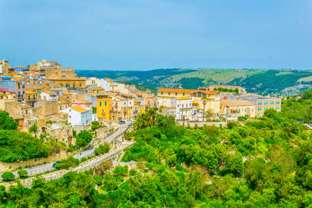 Aerial view of Ragusa, Sicily, Italy