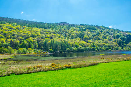 View of the lower lake in Glendalough, Ireland