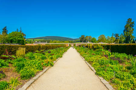 Gardens of the Powerscourt estate in Ireland Banque d'images