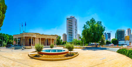 NICOSIA, CYPRUS, AUGUST 23, 2017: Central library at Nicosia, Cyprus