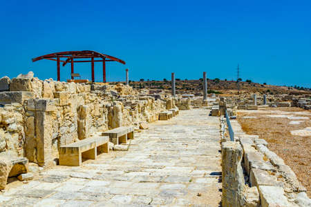 Ruins of an early christian basilica situated at ancient kourion site on Cyprus
