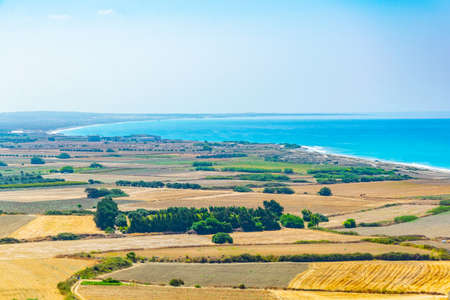Countryside near Ermogenis beach on Cyprus Banco de Imagens