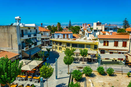 Aerial view of the center of Limassol, Cyprus