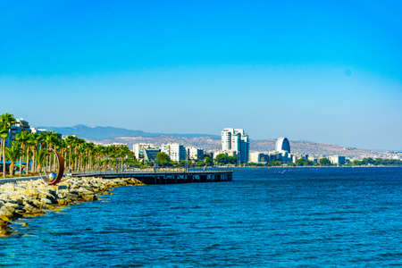 Cityscape of Limassol on Cyprus Фото со стока