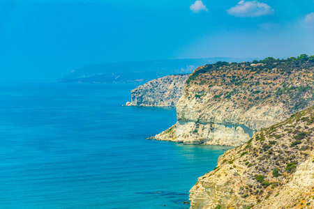 Ragged cliffs between Limassol and Paphos on Cyprus