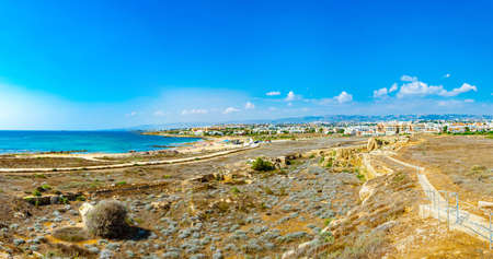 Paphos Archaeological Park on Cyprus Standard-Bild