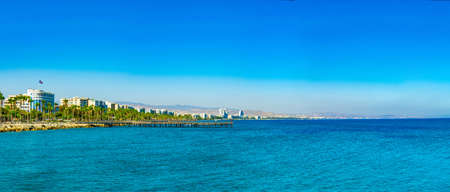 Cityscape of Limassol on Cyprus 免版税图像