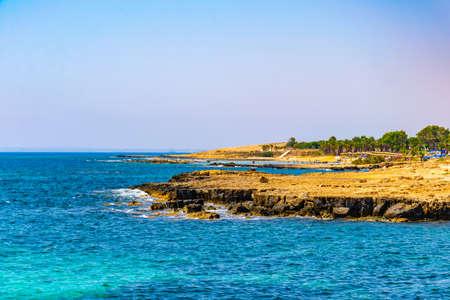 Barren seacoast of Cape Greco on Cyprus