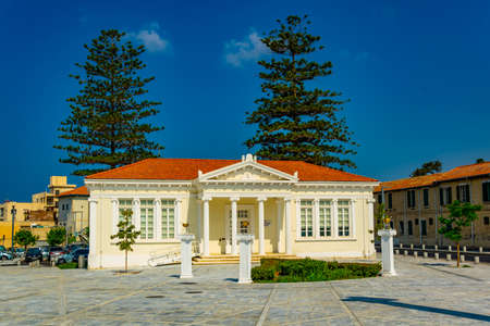 Town hall in Paphos, Cyprus Фото со стока