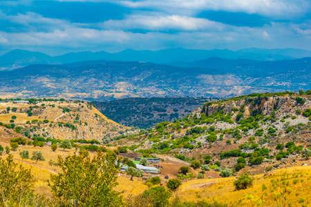 Hilly countryside of Cyprus near Akamas peninsula Archivio Fotografico