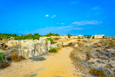 Tombs of the kings on Paphos, Cyprus Banco de Imagens