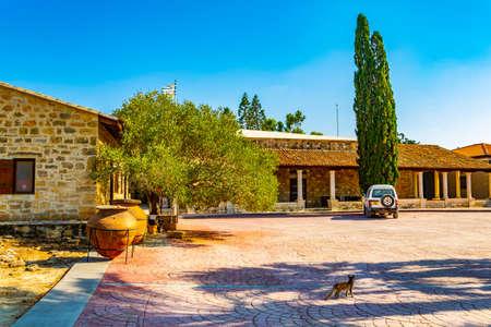 Holy Monastery of St Nicholas of the Cats on Cyprus Фото со стока