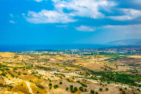 Hilly countryside of Cyprus near Akamas peninsula Imagens
