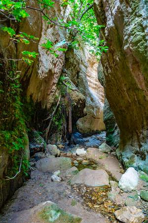 Avakas gorge on Cyprus Imagens