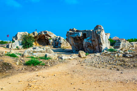 Tombs of the kings on Paphos, Cyprus Foto de archivo