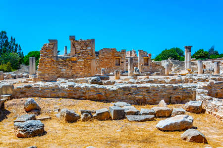 Ruins at compound of the temple of Apollo Hylates on Cyprus Banque d'images