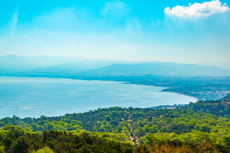 Aerial view of Chrysochou bay on Cyprus Stockfoto