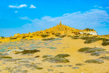 Stone pyramides at Tombs of the kings on Paphos, Cyprus Banco de Imagens