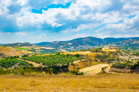 Hilly countryside of Cyprus near Akamas peninsula Archivio Fotografico
