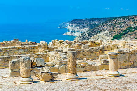 Ruins of agora at ancient Kourion on Cyprus