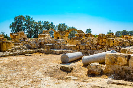 Forty columns fortress at Paphos Archaeological Park on Cyprus