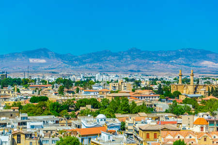 Aerial view of Lefkosia, Cyprus Фото со стока