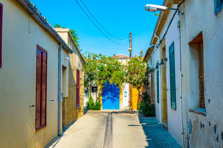 narrow street in the residential area of Nicosia, Cyprus