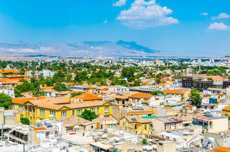 Aerial view of Nicosia, Cyprus 免版税图像