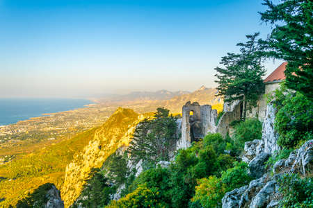 Ruins of St. Hilarion castle in the northern Cyprus