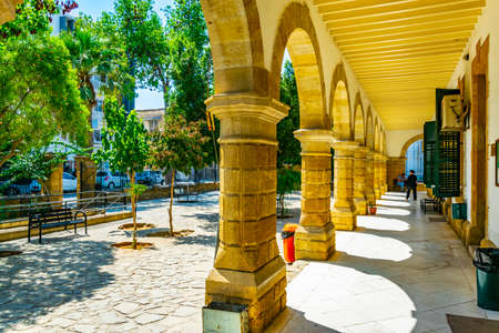 Arcade of the Law courts building in Lefkosa, Cyprus