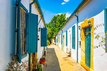 White houses at Samanbahce quarter of Lefkosa, Cyprus