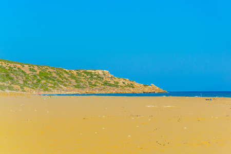 Famous golden beach situated at the end of Karpaz peninsula on Cyprus